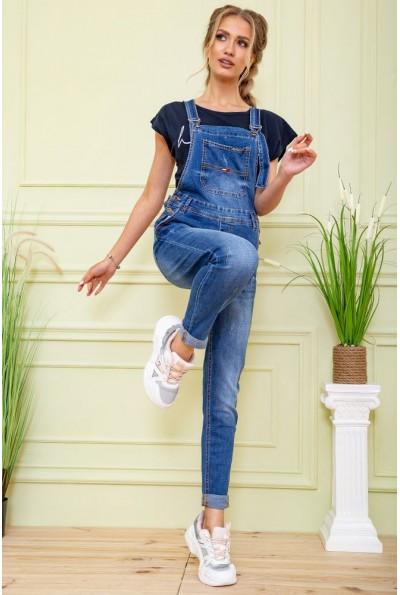 Комбинезон женский джинсовый 129R3313-3 цвет Синий 59190