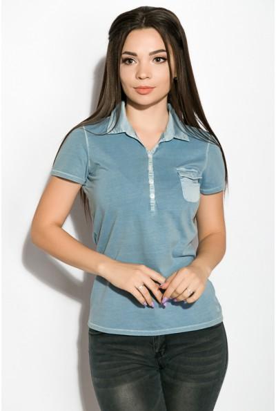 Поло женское AG-0010936 цвет Сизый варенка