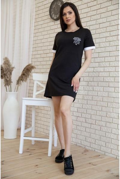 Платье в спортивном стиле цвет Черный 119R405