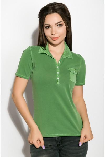Поло женское AG-0010936 цвет Зеленая варенка