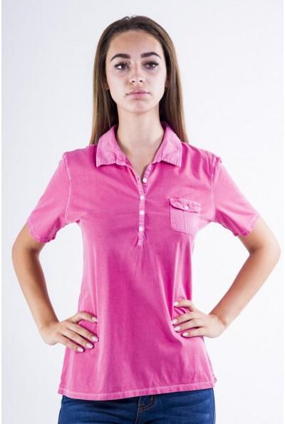 Поло женское AG-0010936 цвет Розовый варенка