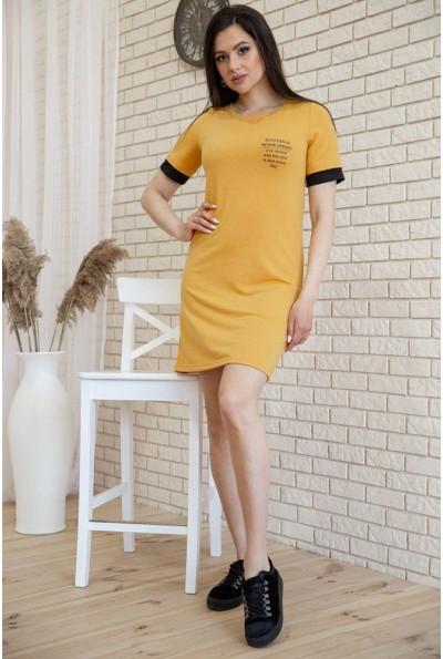 Платье в спортивном стиле цвет Горчичный 119R405