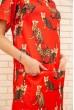 Платье свободного кроя с кошками и карманами цвет Красный 167R1638 цена 579.0000 грн