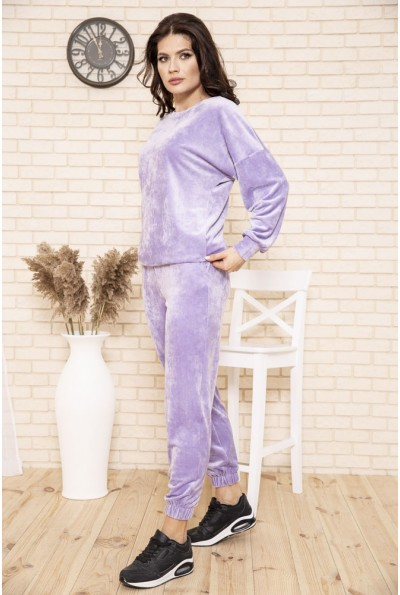Спортивный костюм женский велюровый цвет Сиреневый 104R0036 49302