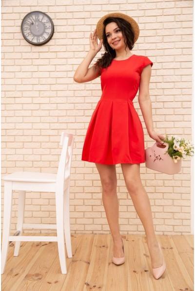 Летнее платье мини с расклешенным низом цвет Коралловый 167R164-2 56403