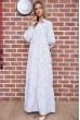 Платье в горошек  цвет белый 175R002 недорого