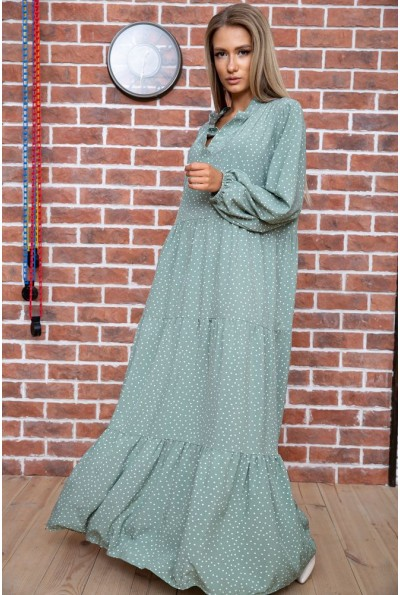 Платье в горошек  цвет оливковый 175R002 66479