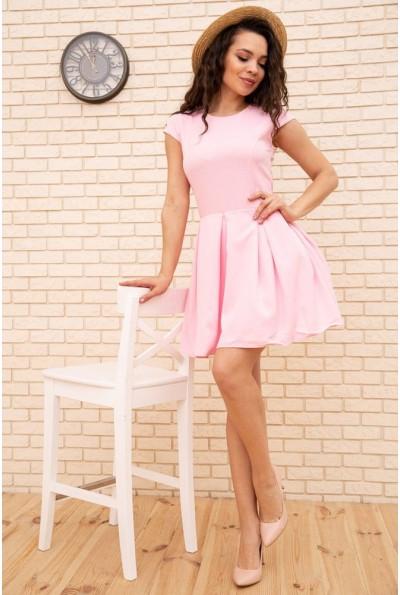 Летнее платье мини с расклешенным низом цвет Розовый 167R164-2 56407