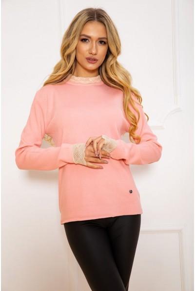Свитер женский 131R9019 цвет Розовый 45207