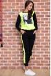 Спорт костюм женский  на флисе  цвет черно-желтый 167R613-1 стоимость