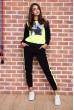 Купить Спорт костюм женский  на флисе  цвет черно-желтый 167R613-1 65710