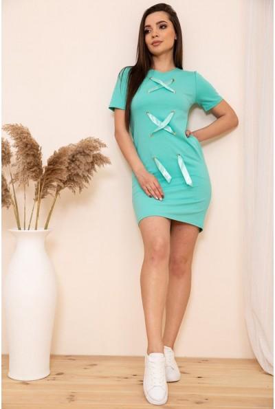 Короткое платье в спортивном стиле цвет Голубой 167R11-1 54127