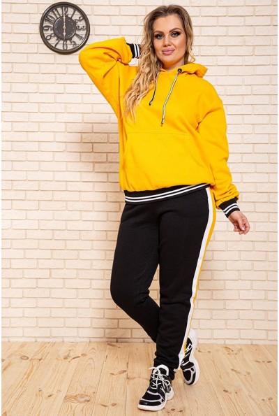 Спортивный костюм женский, батал 102R5069 цвет Желто-черный
