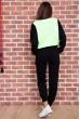 Спорт костюм женский  на флисе  цвет черно-салатовый 167R613-1 акция