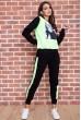 Купить Спорт костюм женский  на флисе  цвет черно-салатовый 167R613-1 65712