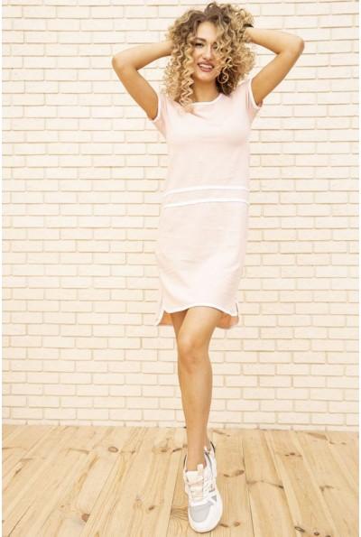 Спортивное платье женское цвет Пудровый 129R9475-1