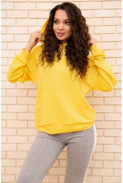 Худи женский  102R192-1 цвет Желтый 55610