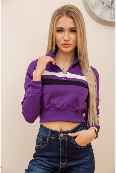 Свитшот женский укороченный  цвет фиолетовый 119R494 56589