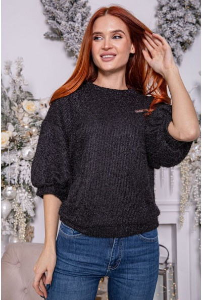 Женский свитер 112R001-444 цвет Черный 8204