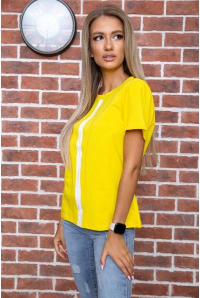 Футболка женская  цвет желтый 102R217 66431