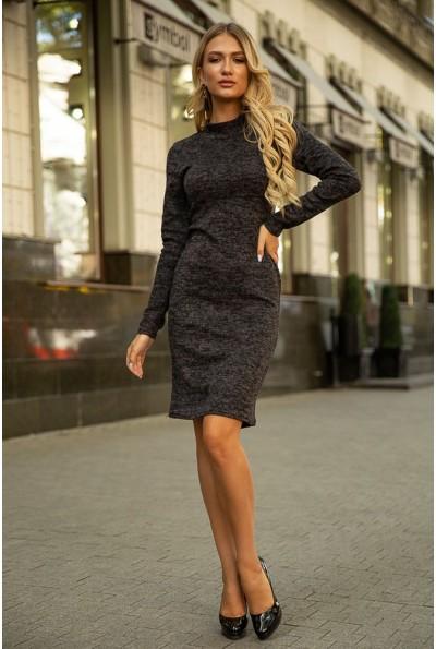 Темно-серое трикотажное платье 153R1082 39594