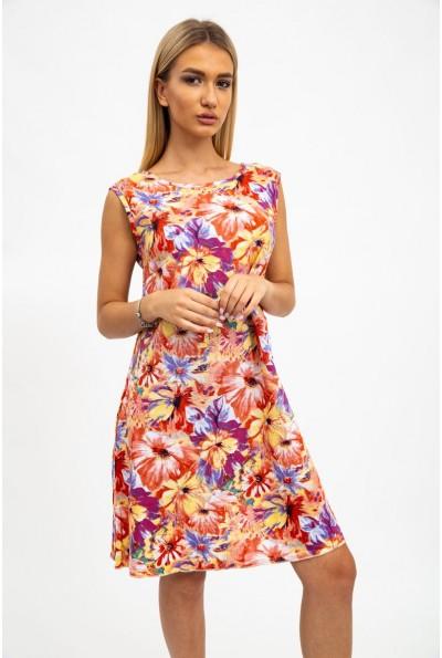 Платье женкое 115R259 цвет Желто-красный