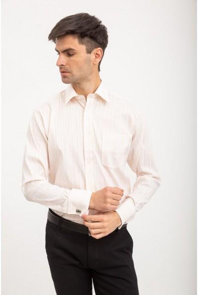 Персиковая рубашка с карманом 515-3