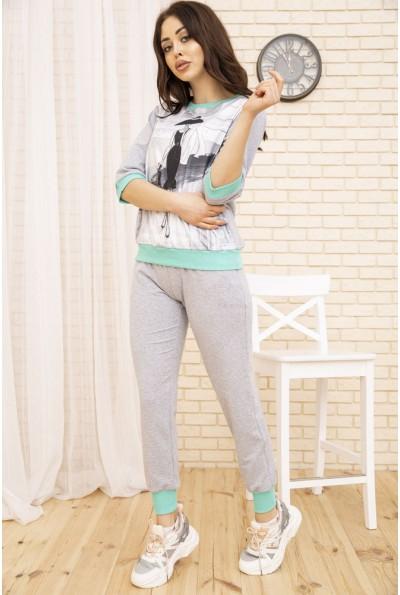 Женский повседневный костюм цвет Серый 167R17-1 52563