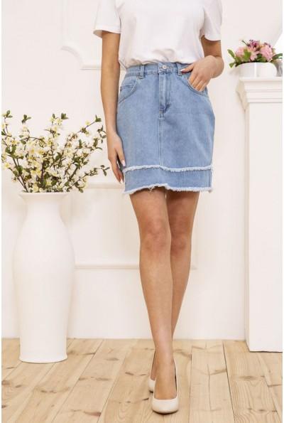 Юбка женская джинсовая ассиметричная цвет Голубой 129R2738