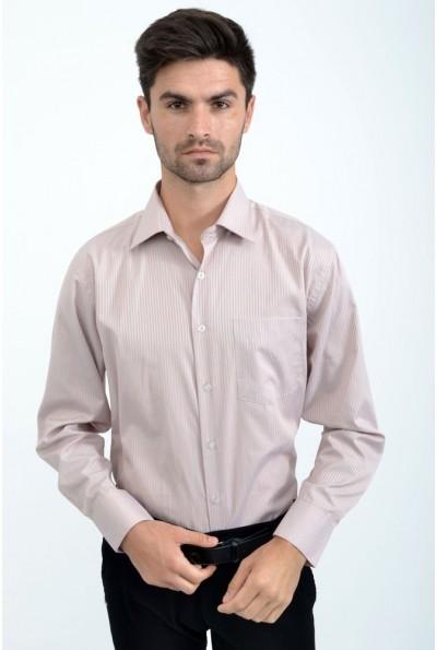 Рубашка  розово-серая офисный стиль 14#LS