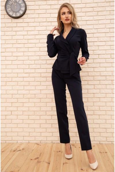 Женский костюм пиджак с поясом и брюки цвет Чернильный 167R1606 56270