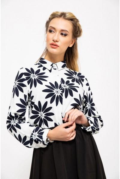 Блуза 115R119-12 цвет Бело-синий