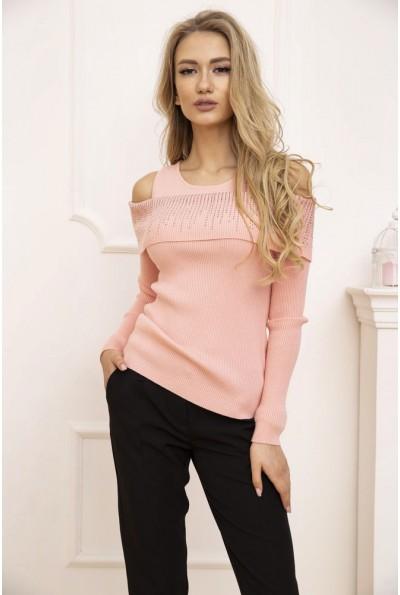 Свитер женский с открытыми плечами цвет Розовый 131R3034