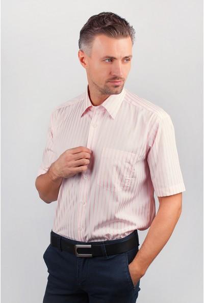 Рубашка мужская светло-розовая с короткими рукавами Fra AG-0002545 9061