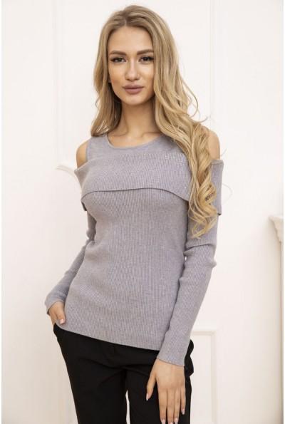 Свитер женский с открытыми плечами цвет Серый 131R3034 53212