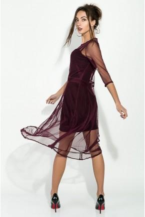 Платье женское кружевное  AG-0008584 Марсала