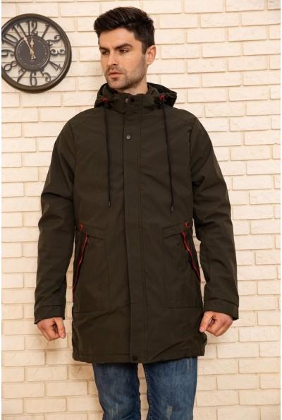 Куртка мужская с капюшоном демисезонная цвет Хаки 129R8806