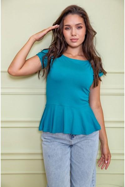 Блуза  цвет бирюзовый 167R224 60423