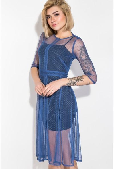Платье женское 115R323 цвет Синий