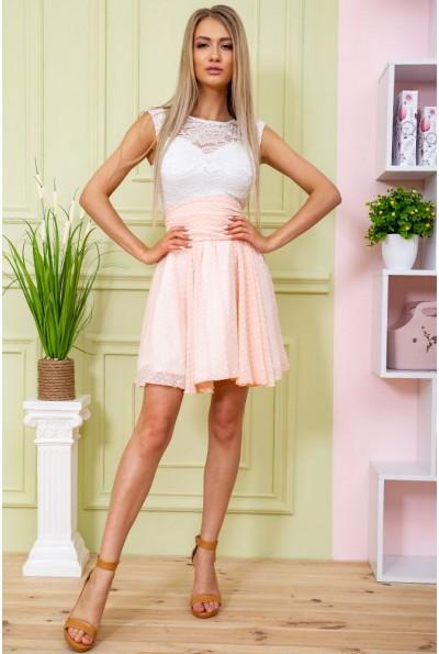 Платье 167R885 цвет Светло-персиковый 59419