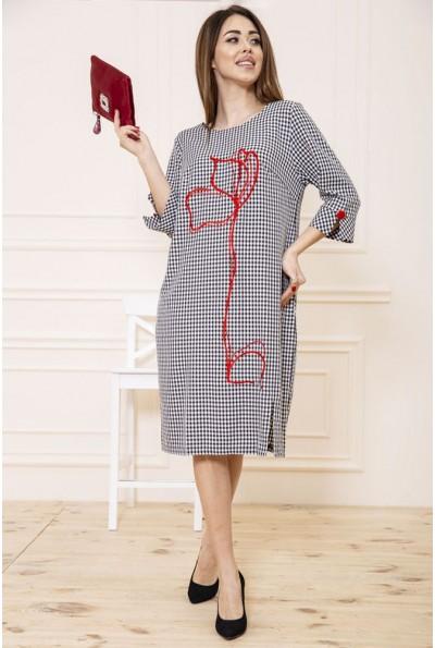 Платье 150R664 цвет Черно-белый