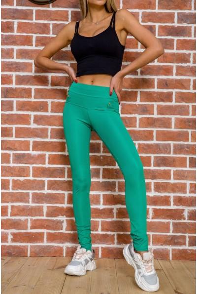 Женские леггинсы с высокой талией цвет Зеленый 172R249 55419
