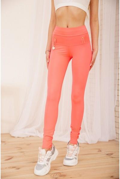 Женские леггинсы с высокой талией цвет Розовый 172R249 55421