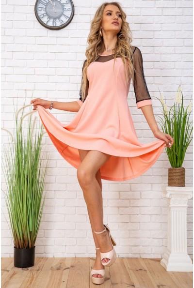 Платье нарядное  172R40-1 цвет Персиковый 57189
