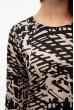 Черно-бежевое платье-туника с принтом 103R095 скидка