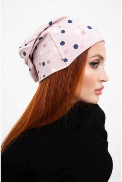 Стильна шапка женская, розовая 126R022