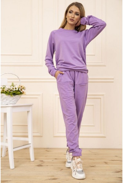 Спортивый костюм женский однотонный цвет Сиреневый 102R175-1
