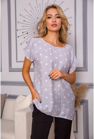 Блуза женская 119R1-2 цвет Джинс 58610