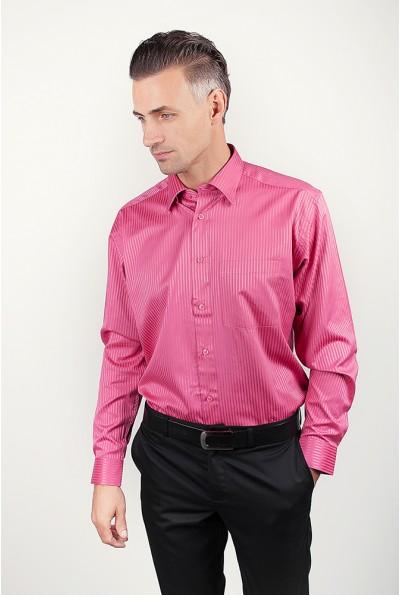 Рубашка розовая нарядная, атласная AG-0002205 цвет Темно-розовый