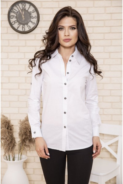 Рубашка женская  102R163 цвет Белый